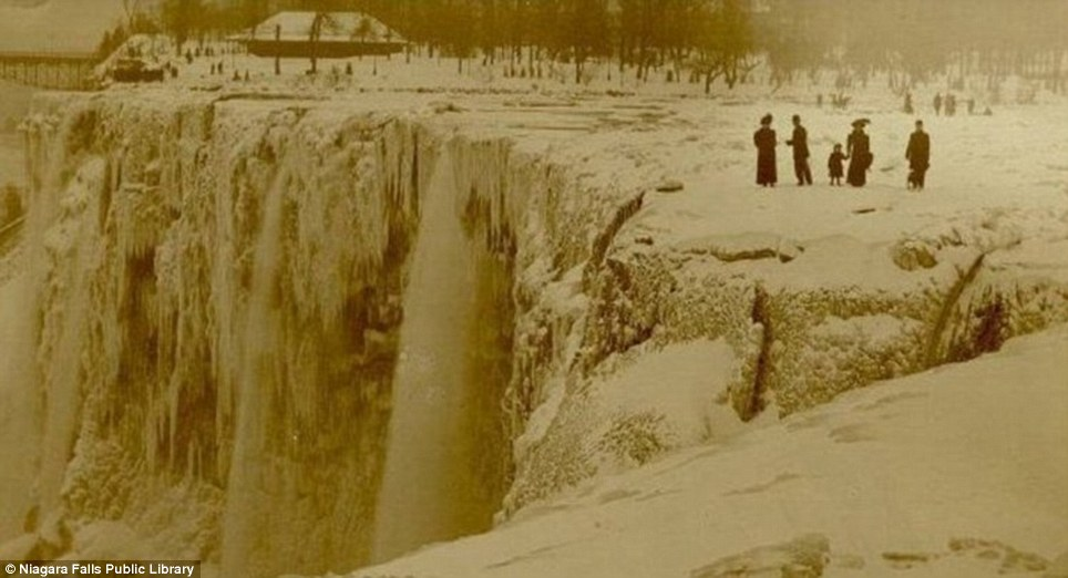 "Frozen Niagara Falls: This sepia-toned photograph is authentic but the claim of ""1911 complete freeze"" associated with it is false."