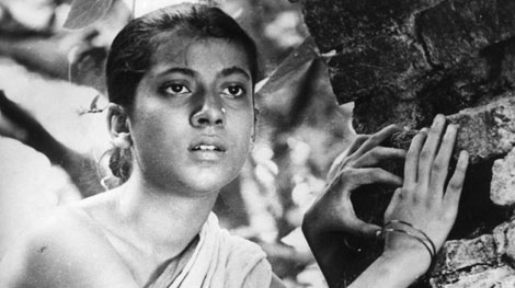 Durgo in Pather Panchali. Character was played by Uma Dasgupta.