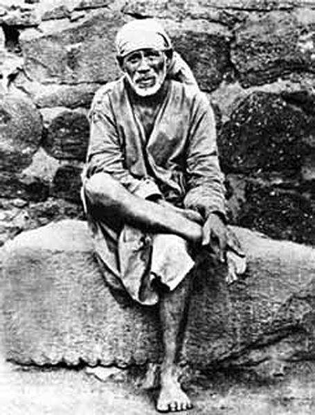 Iconic photograph of Sai Baba of Shirdi. Photographer's name is unknown.