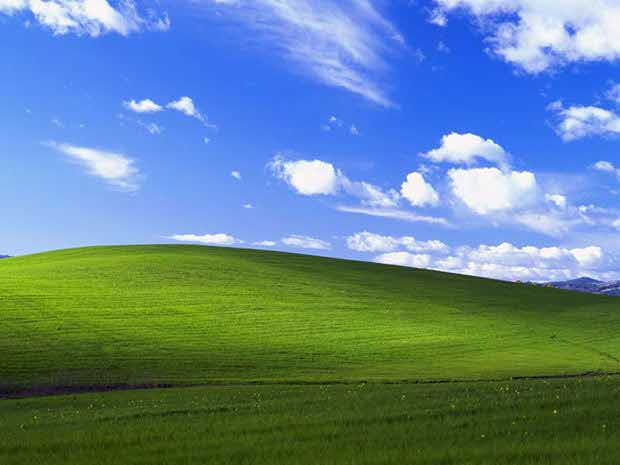 Bliss. Default desktop wallpaper for Microsoft Windows XP. Photograph by Charles O'Rear