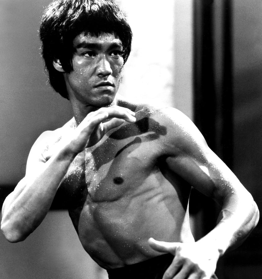 Famous and iconic poster of Bruce Lee.
