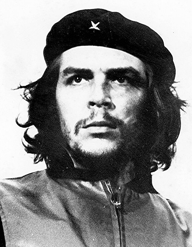 Popular cropped version of Guerrillero Heroico (Photo of Che Guevara). Photograph by Alberto Korda.