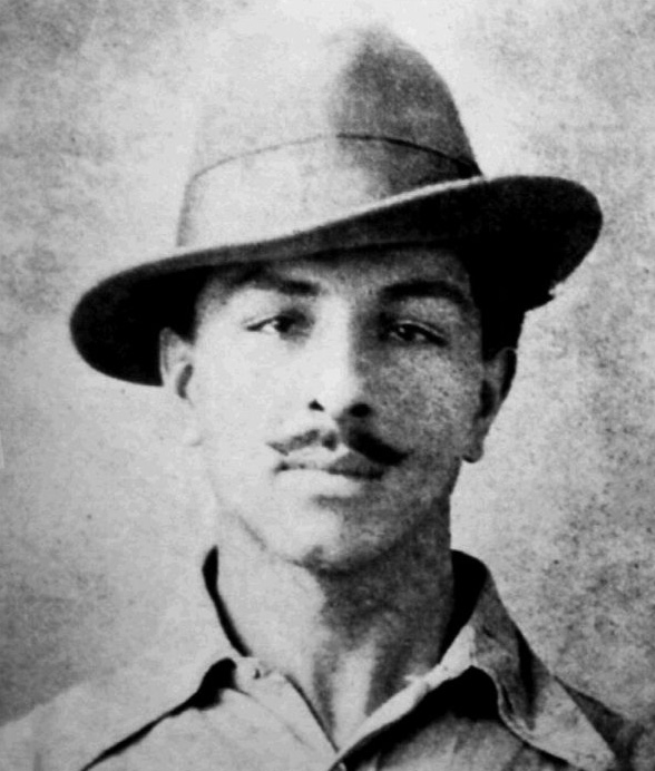 The most iconic photograph of Bhagat Singh at the age of 21 (in 1929). Photographer's name unknown.