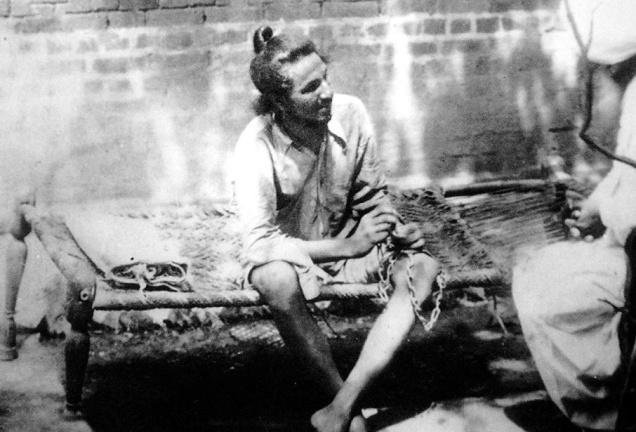 Bhagat Singh in a Lahore jail in 1927 (first arrest by police).