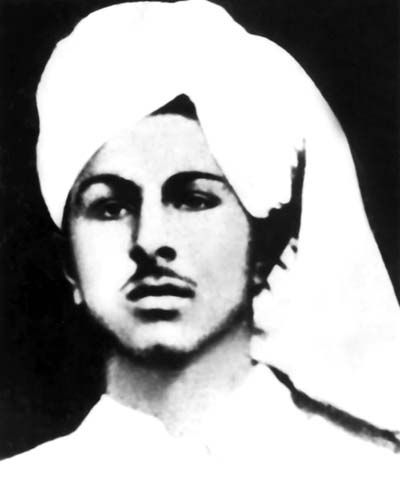 Photograph of Bhagat Singh cropped from the original group photo in the National College, Lahore.