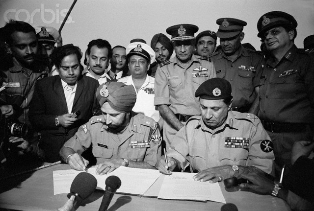 Another photograph of the Pakistani Surrender after 1971 Indo-Pak war.