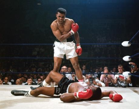 Muhammad Ali vs. Sonny Liston. Photograph by Neil Leifer.
