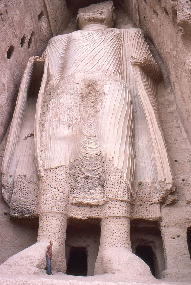 Smaller Buddha statue in Bamiyan in 1977.