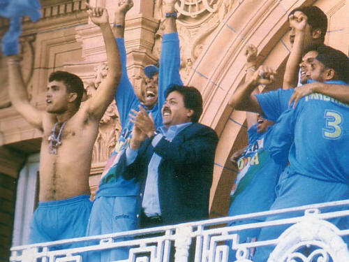 Sourav Ganguly removed his shirt in jubilation at the Lord's balcony.