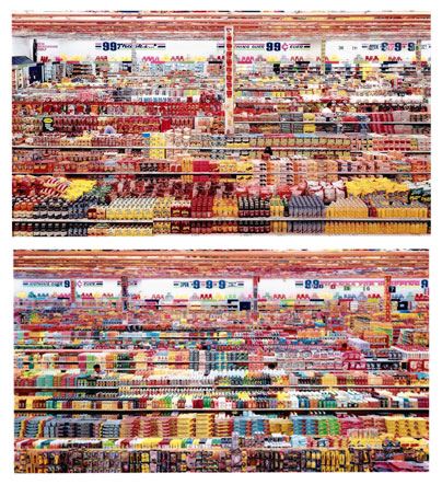 99 cent II, diptychon. One of the world's most expensive photograph. Photographer is Andreas Gursky.