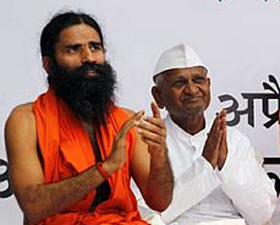 Baba Ramdev and Anna Hazare.