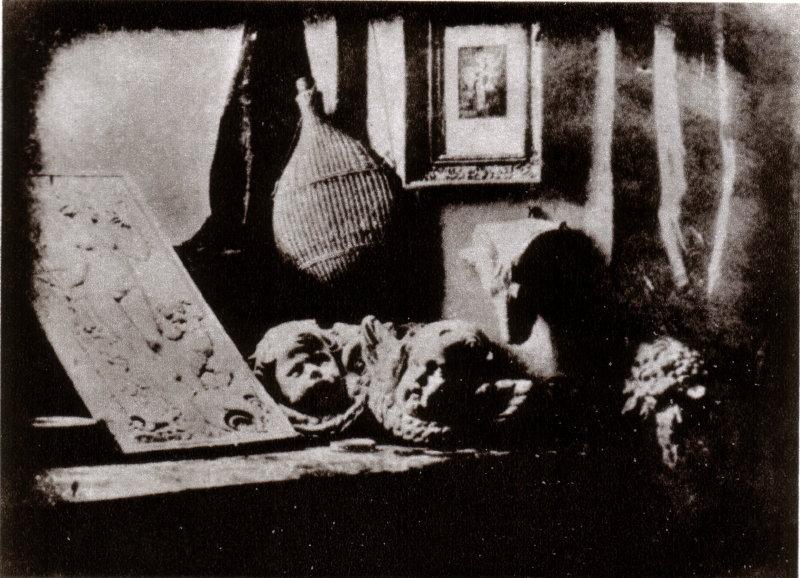 Earliest Daguerreotype in existence. It was created by Louis Daguerre in 1837.
