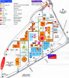 Map of Pragati Maidan. Find directions to your favorite Halls.