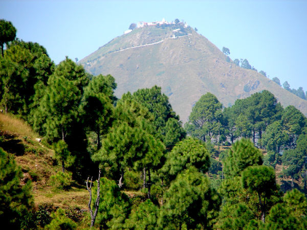 Bhairavgarhi temple is located on a hill top about 18 km from Lansdowne.