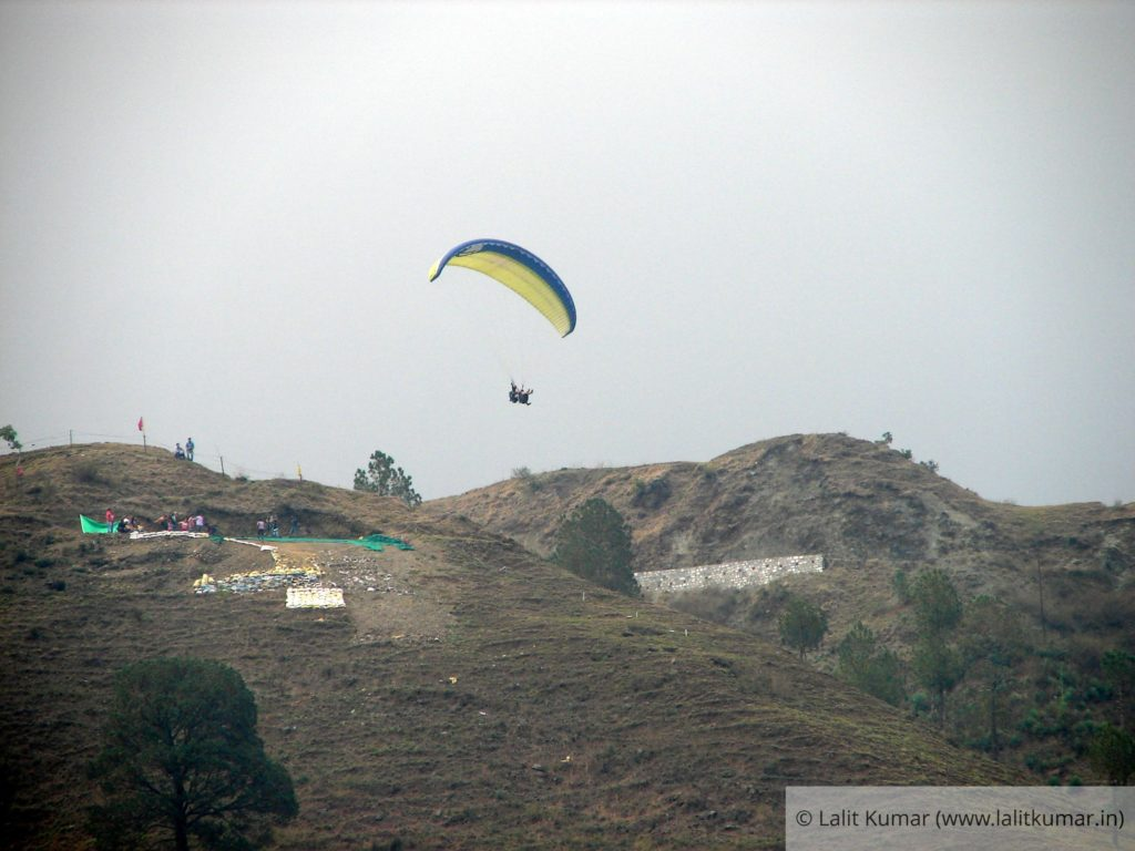 Paragliding launch pad at Bhimtal